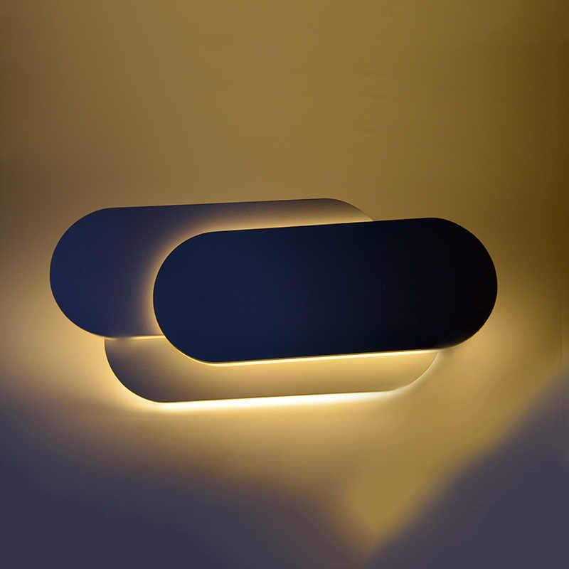 12 Вт светодиодный настенный светильник, внутренний настенный светильник, современный настенный светильник с алюминиевой оболочкой для комнатной спальни, свет гостиницы