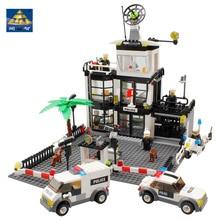 KAZI 631 Pcs Delegacia de Polícia Da Cidade Blocos de Construção figura de ação brinquedos do bebê para crianças blocos de construção de brinquedo tijolos