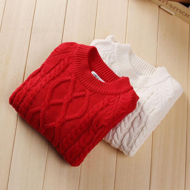 Girls boy suéteres bebé ropa de los muchachos Del O-cuello suéter de Cuello niños jersey de punto outwear suéter suéter de los niños