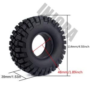 "Image 2 - 4PCS 114MM 1.9"" Rubber Rocks Tyres / Wheel Tires for 1:10 RC Rock Crawler Axial SCX10 90046 AXI03007 Traxxas TRX 4"