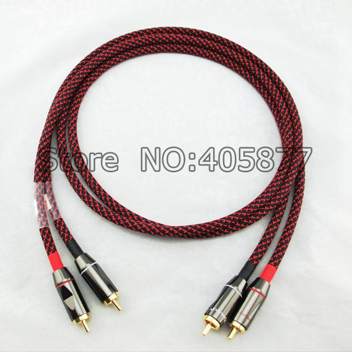 Pair(2pcs) Hifi Canare L-4E6S Star Quad High End HIFI RCA Audio Cables