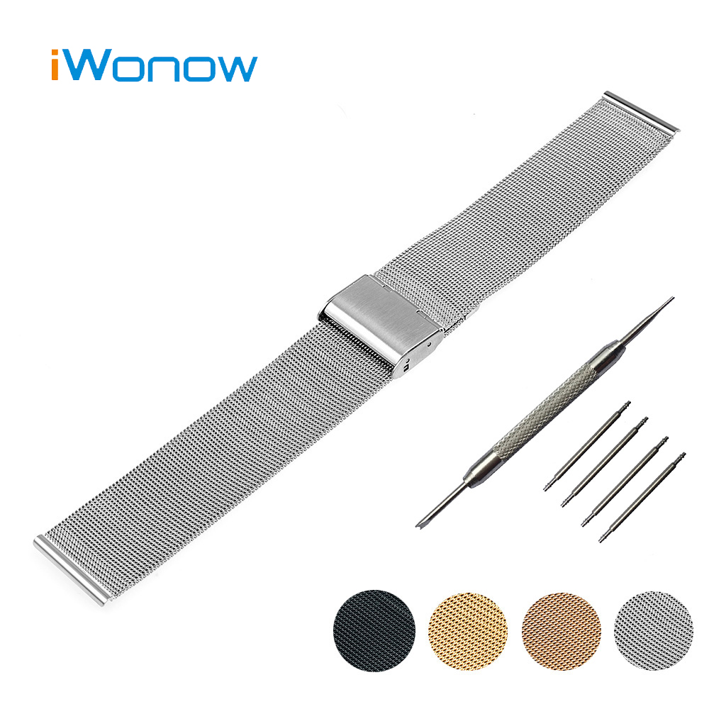 Stainless Steel Watch Band 18mm 20mm for DW Daniel Wellington Hook Buckle Strap Replacement Wrist Belt Bracelet + Spring Bar nylon watch band 22mm for pebble time steel stainless pin buckle strap wrist belt bracelet black blue spring bar tool