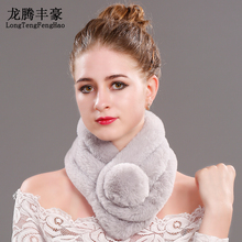 Faux fur scarves women High imitation Scarf female 2017 Winter rex rabbit Scarves lady Multi color Russian 65*14cm