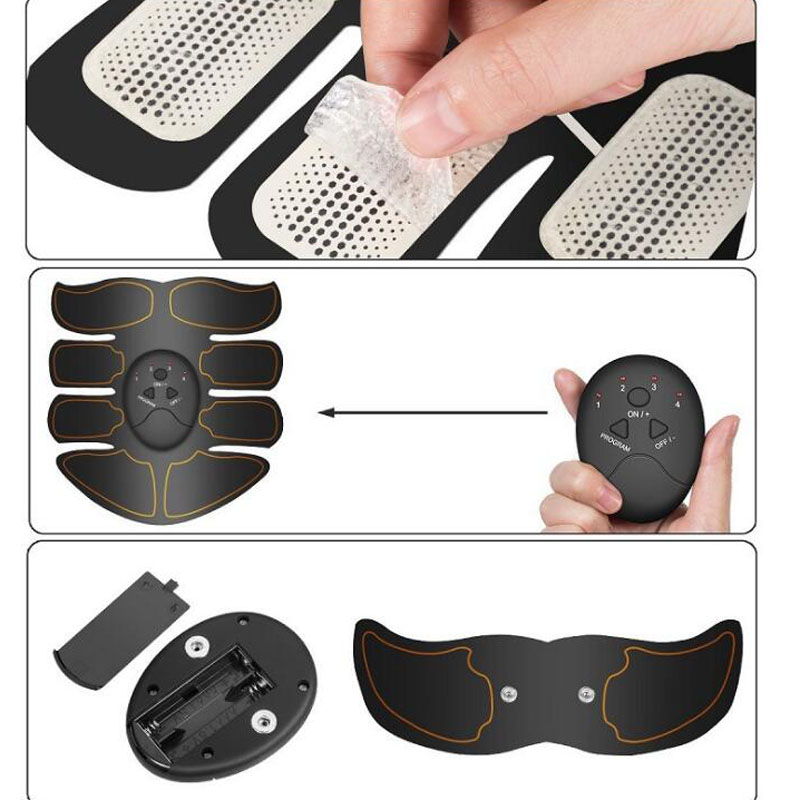 Купить с кэшбэком New Sports Muscle Fitness stimulator muscle electr  Massager 8 Packs Body Massager Smart EMS Abdominal Muscle Trainer Wireless