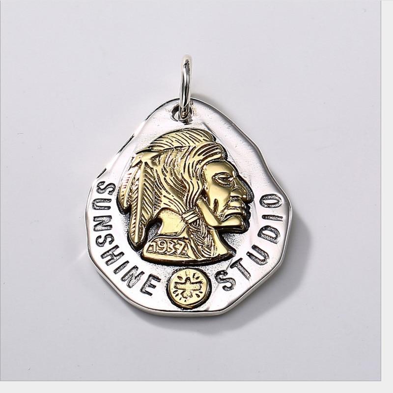 Uglyless 100% réel 925 argent Sterling indien chef pendentif colliers pas de chaîne à la main plumes pendentif exotique bijoux fins - 5