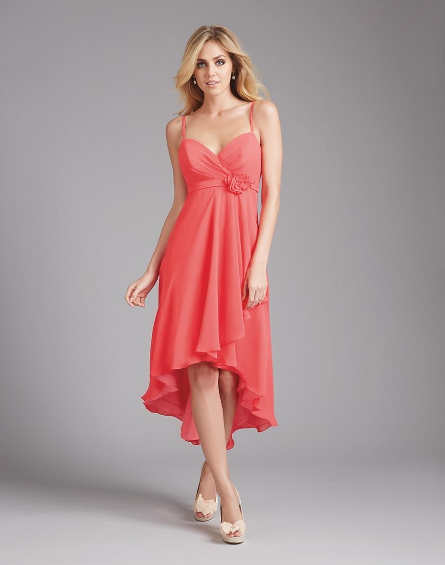 Short Coral Bridesmaid Dresses
