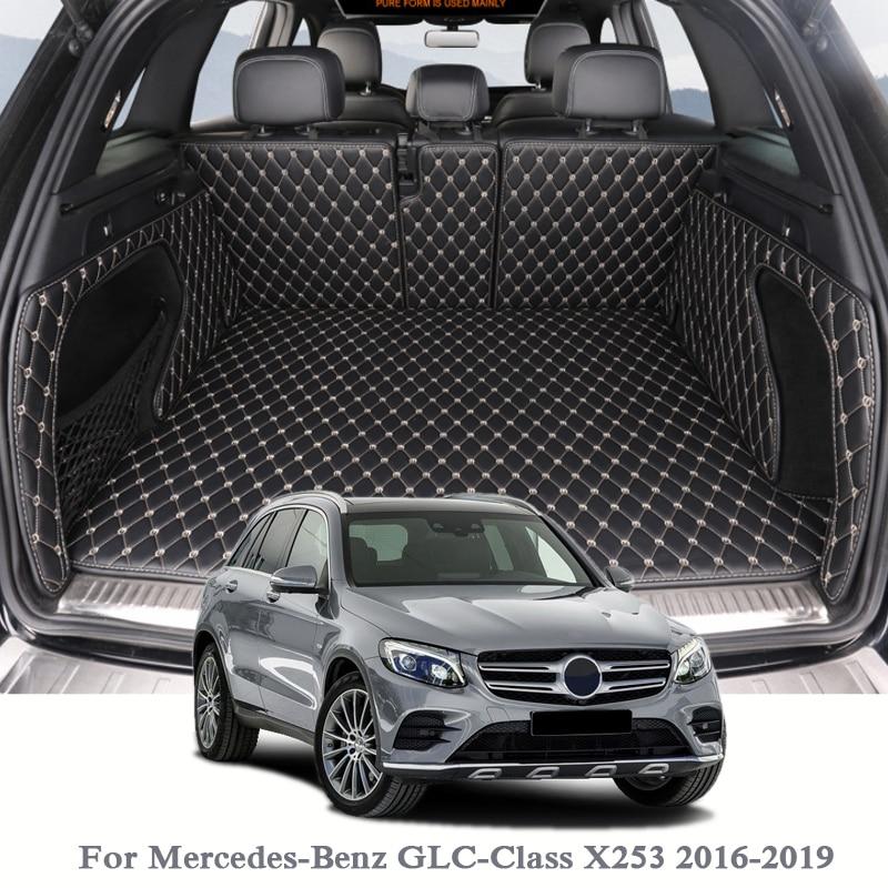 Para Mercedes Benz-GLC-Classe X253 2016-2019 Boot Mat Traseiro Tronco Forro de Carga Tapete Do Assoalho Do Carro tray Protetor Acessórios Internos