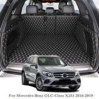 Para mercedes-benz glc-class X253 2016-2019 alfombrilla para maletero de coche revestimiento del maletero trasero de carga piso alfombra bandeja Protector accesorios internos