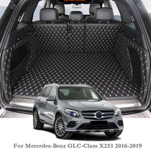 For Mercedes-Benz GLC-Class X253 2016-2019 Car Boot Mat Rear Trunk Liner Cargo Floor Carpet Tray Protector Internal Accessories for audi q5 rear trunk cargo liner boot mat floor tray carpet mud kick protector cover 2010 2016 automobile parts accessories