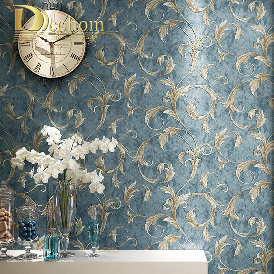 Leaves Pattern Luxury Grey Textured Wallpaper Modern Gray Wall Paper Roll Living room Bedroom 3d Background Home Decoration fashion floral rattan butterflies pattern bedroom decoration wall stickers