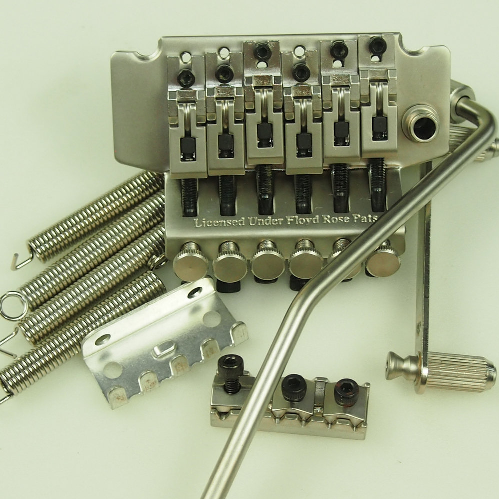 1 set Double swing Bridge Electric Guitar Locking Tremolo System Bridge Silver subcolor MADE IN KOREA