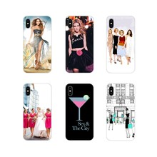 For Huawei Nova 2 3 2i 3i Y6 Y7 Y9 Prime Pro GR3 GR5 2017 2018 2019 Y5II Y6II Transparent Soft Cover Bag sex and the city poster(China)