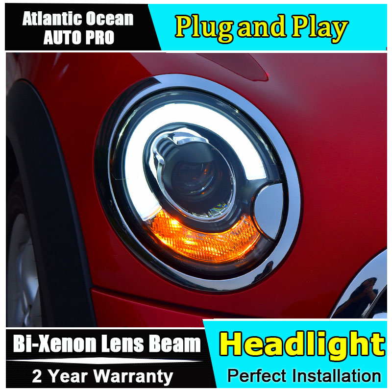 2PCS Car Style LED headlights for BMW mini R56 2007-2013 for mini R56 head lamp LED Lens Double Beam H7 HID Xenon bi xenon lens 2pcs car style led headlights for vw polo 2011 2017 for vw polo head lamp lens double beam h7 hid xenon bi xenon lens