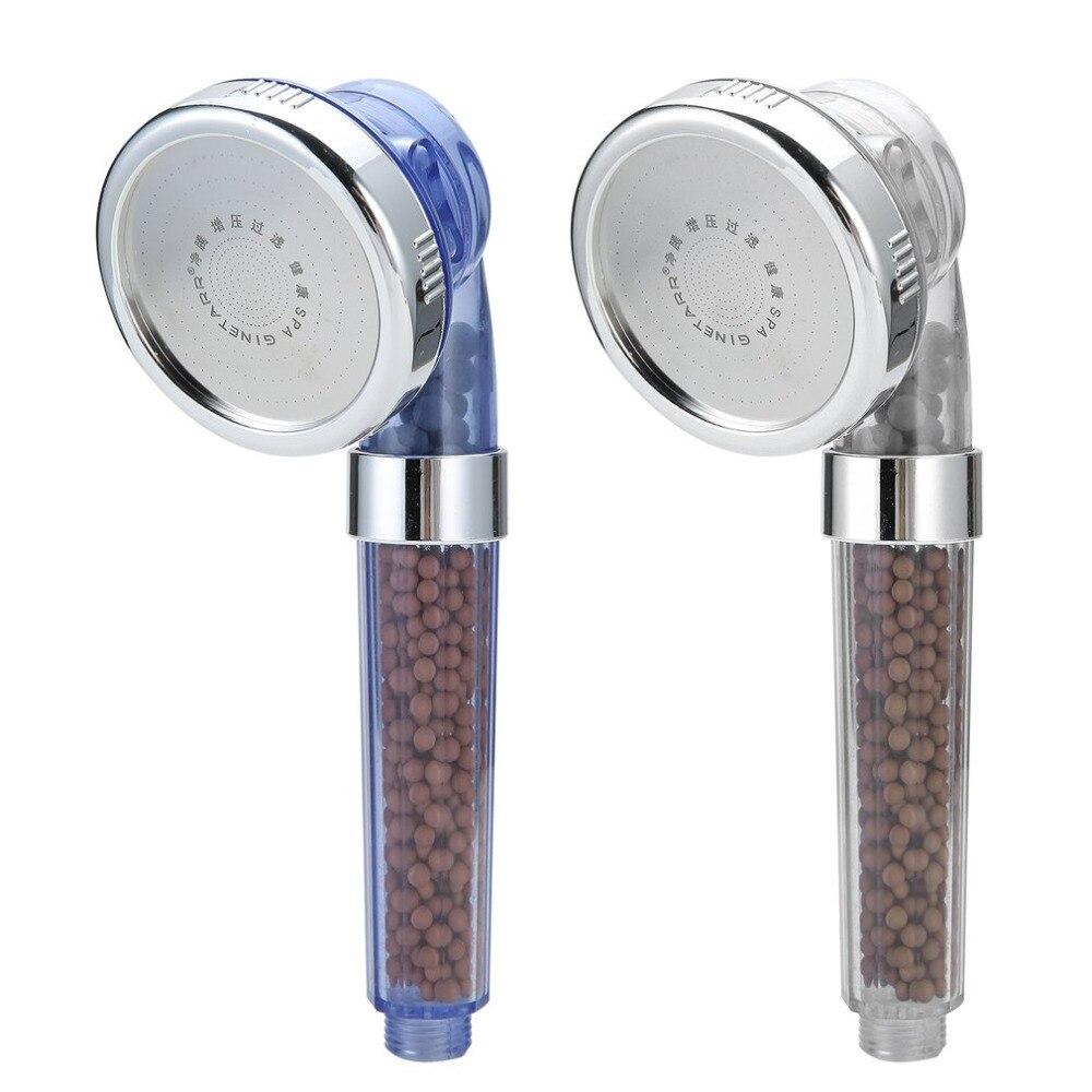 SPA de la ducha rociadores iones negativos del anión del Sensor de temperatura de Color RGB saludable mano Spa ducha boquilla Dropshipping. exclusivo.