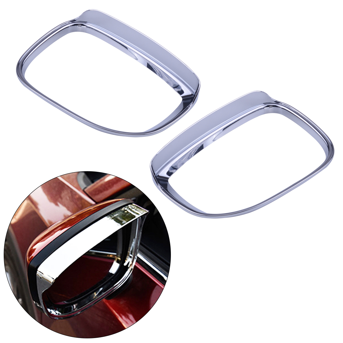 Mirror & Covers Automobiles & Motorcycles Helpful Citall 2pcs Silver Car Side Door Rearview Mirror Rain Guard Cover Trim Abs Chrome Fit For Mazda Cx-5 2017 2018 Pleasant In After-Taste