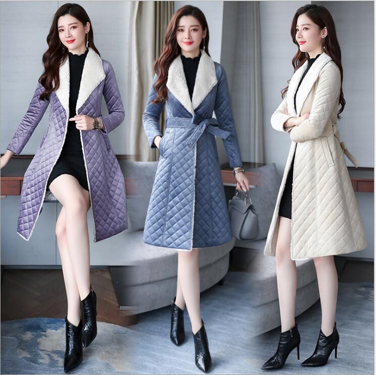 Mode De Hiver Pupi Chaud Nouveau Manteau Épaississement Et Femelle Long Coton 2018 Moyen xArxzwU