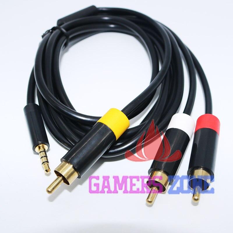10pcs Brrand New AV Audio Video Cable Cord for Xbox 360 E RCA