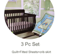 3 Pc Crib Infant Room Kids Baby Bedroom Set Nursery Bedding Cot Newborn Baby Bedding for boy and girl