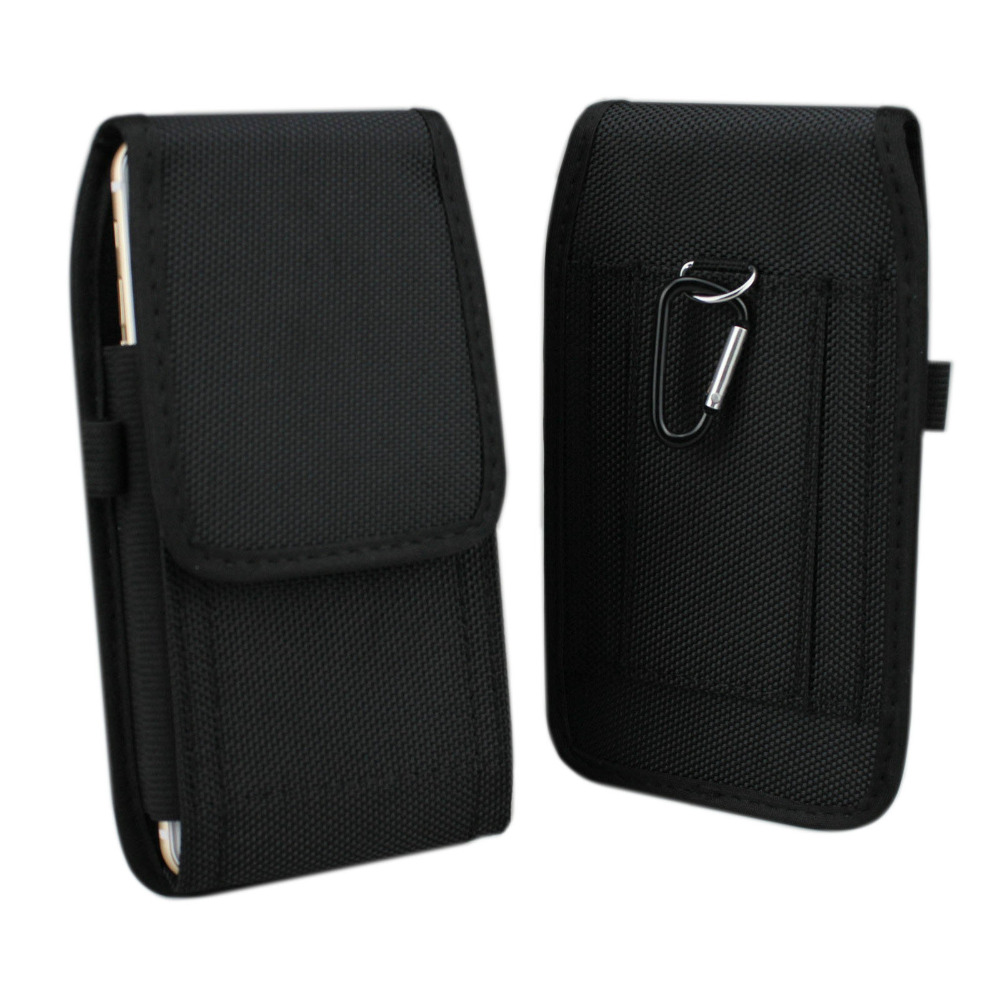 Nylon Pouch Bag with Hook Carabiner Belt Clip Holster Case for Samsung Galaxy Note 3/4/5/7 S7 Edge