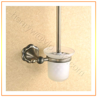 L15662 Luxury Wall Mounted Bronze Color Brass Toilet Brush Holder