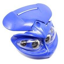 цены Motorcycle Headlight Fairing Low Beam Motorcycle Dual Headlight for Dirt Bikes Street Fighter Universal