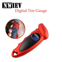 NWIEV 1X Car tire pressure gauge Portable digital display monitor For Abarth Fiat 500 BMW E60 E36 Mercedes Benz W204 Volvo XC90