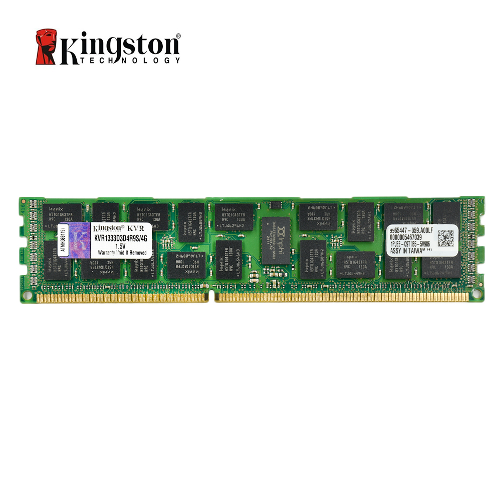 Kingston REG ECC Memory RAM DDR3 4G 1333MHZ ECC CL9 240pin 1.5V PC3-10600 DIMM working on servers only цена