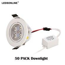 50 pz/lotto 3 w 4 W ha condotto la luce di soffitto AC85 265V argento lampada della luce di soffitto regolabile shell allingrosso più basso di trasporto libero