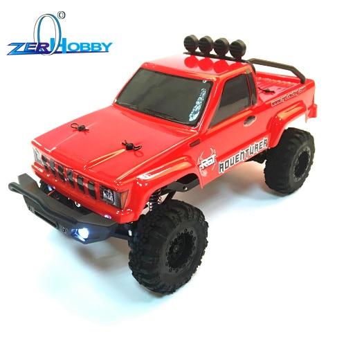 Rgt rc carro 1/24 136240 escala 4wd fora da estrada rc lagartas 4x4 lipo mini monstro caminhão rtr rock crawler com luzes