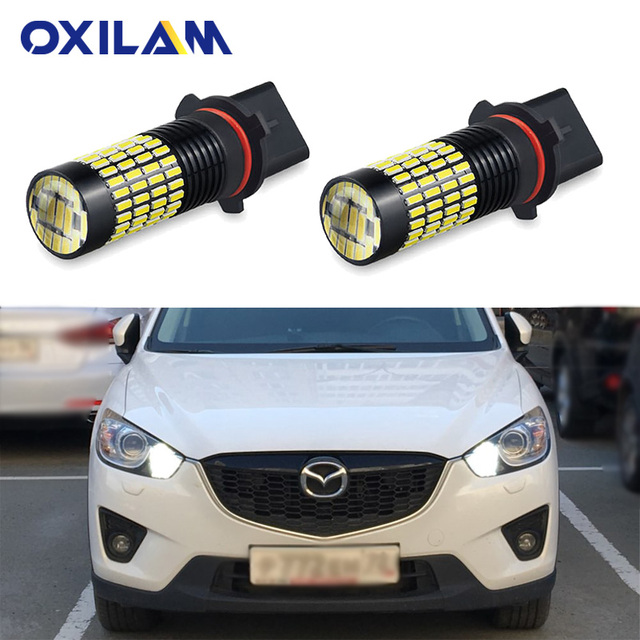 2Pcs P13W LED 102SMD 4014 SH24W PSX26W LED DRL Bulb for Mazda CX-5 Daytime Running Lights Auto Lamp 6000K White Car Fog Light