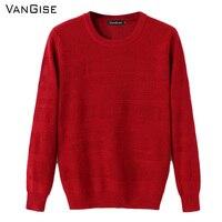 Offwhite vangise الشتاء سترة الرجال brand-الملابس الحمراء السوداء البلوزات التريكو الصوف البلوز س الرقبة قميص رجل تريكو الخريف