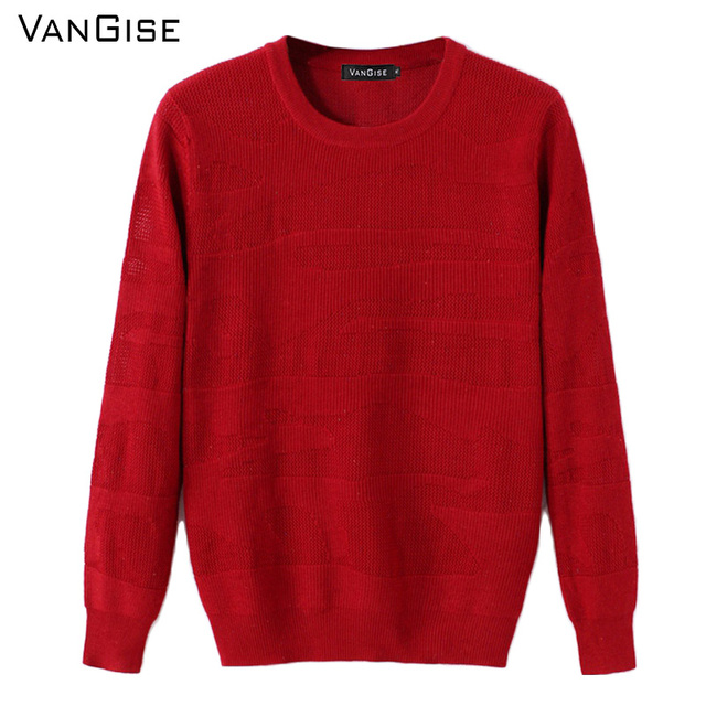 VanGise Winter Sweater Men brand clothing Red Black offwhite ...