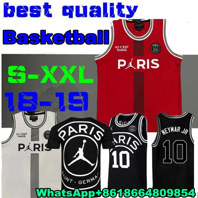 5fedab81d Aliexpress.com   Buy New 2019 PSG Paris Jersey 23 Michael JD 10 NEYMAY JR 7  MBAPPE Paris Basketball Jerseys Black Wholesale Mix Order Fast Shipping  from ...