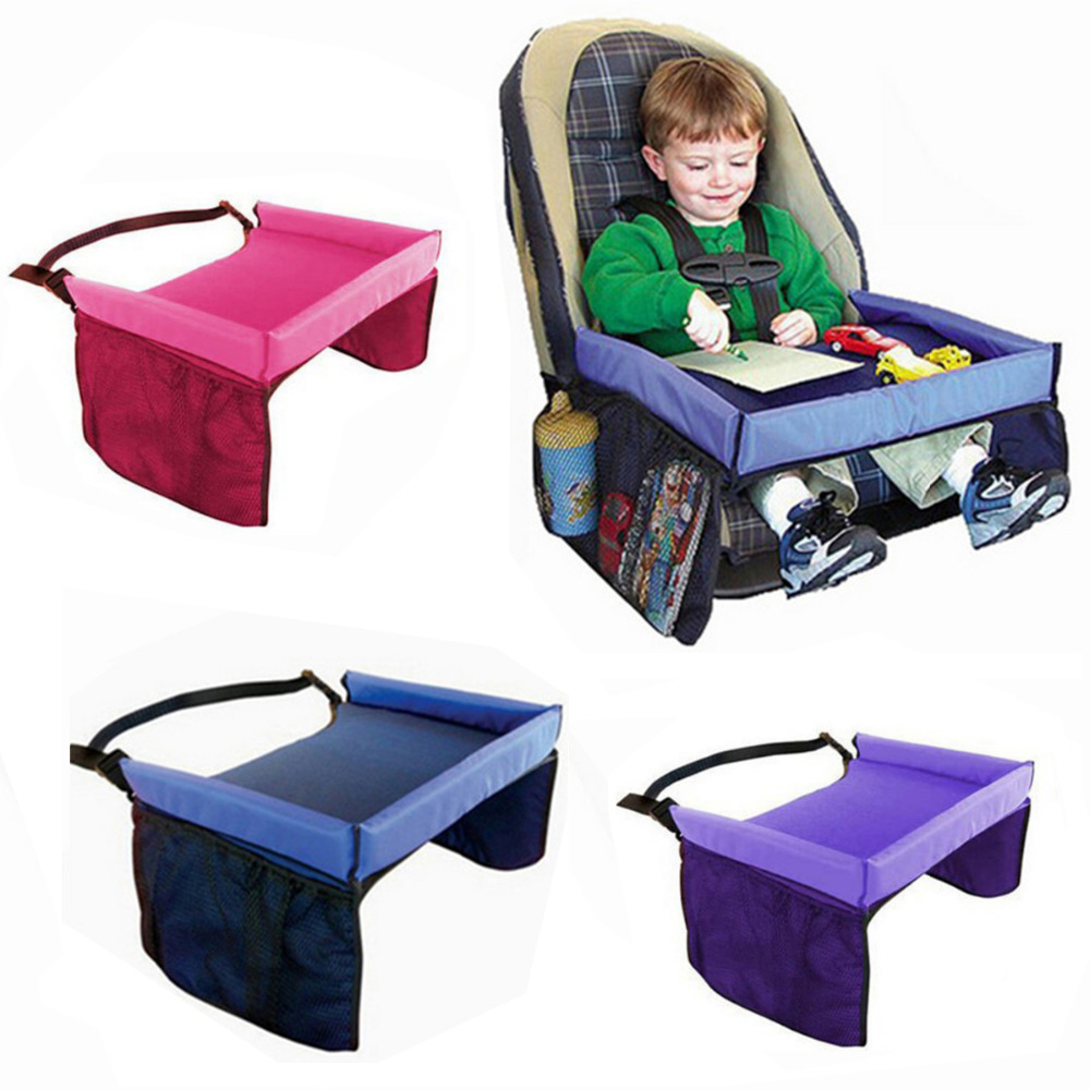waterproof table car seat tray storage kids toys infant holder seats for children 5 colors packed by inflatable bag