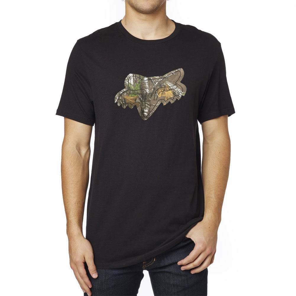 Fox Men's Realtree Tech T Shirt Black