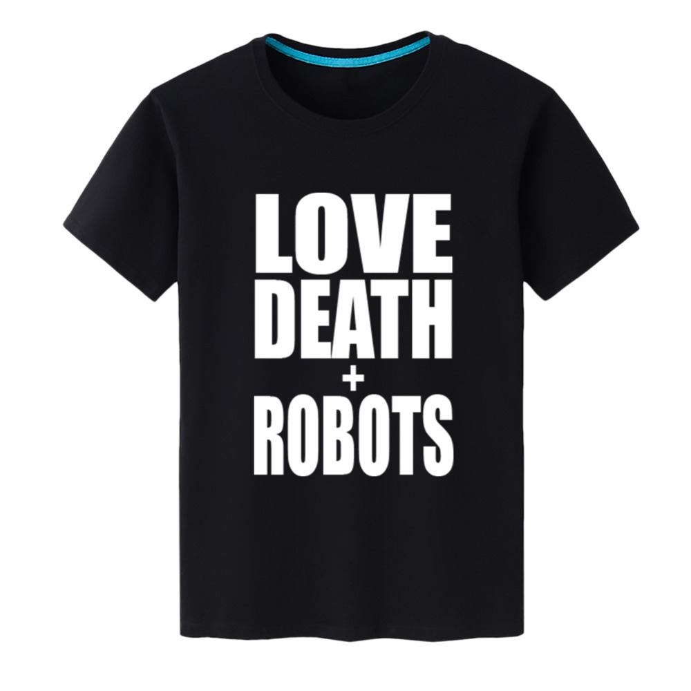 2019 New Fashion Men's T Shirts Love Death Robots Print Letter Short Sleeve Cotton Tshirts Men Clothing Tee Top Free Shipping