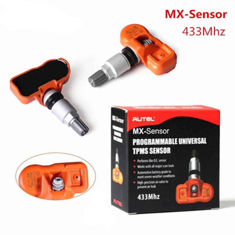 Prix pour DHL Libre 10 pcs Autel MX-Capteur 433 MHZ Programmable Universel TPMS Capteur Soutien Programmation Avec TS601 MX Capteur 433 MHZ