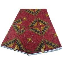 Африканский голландский воск красочные Анкара ткань материал хлопок 6 ярдов для шитья одежды