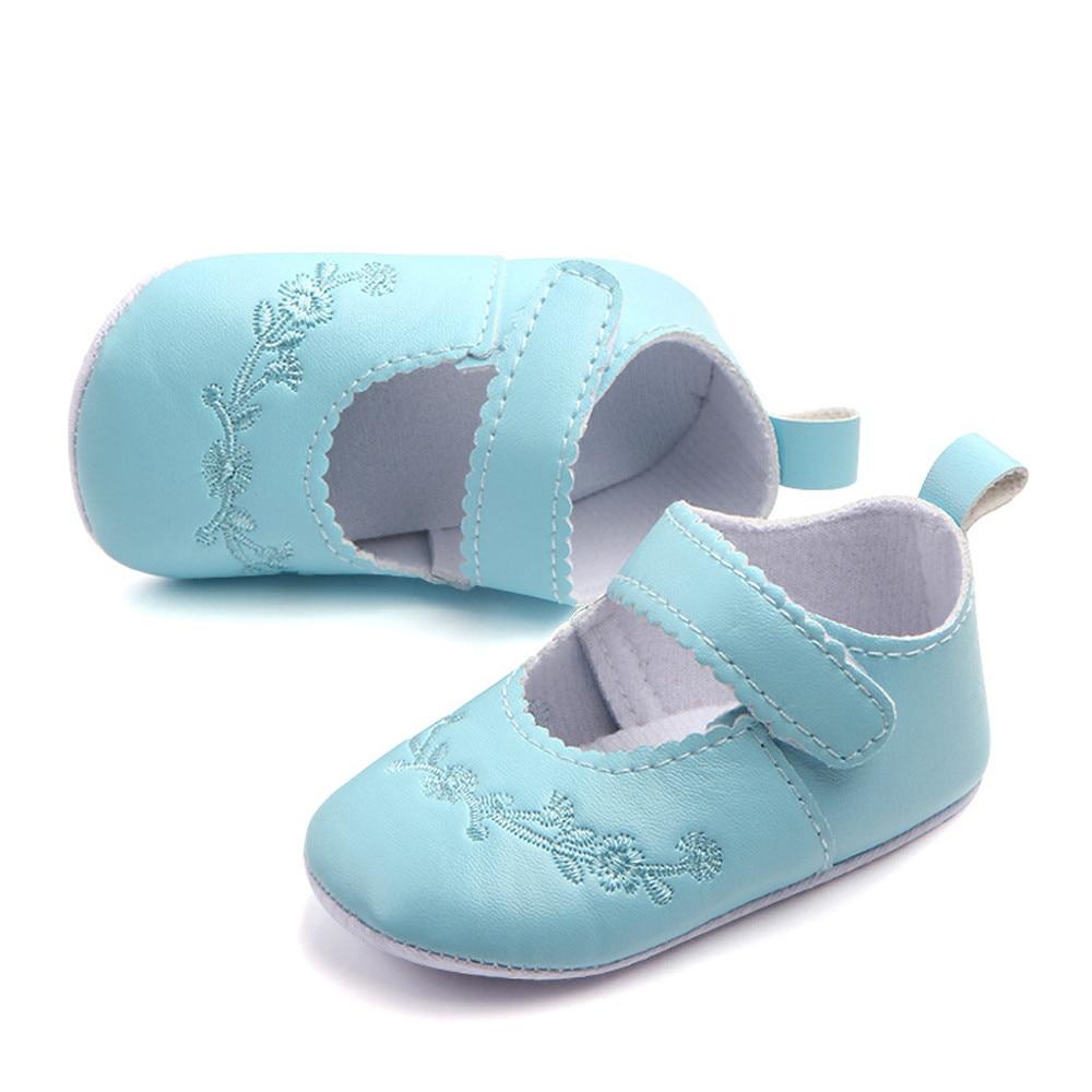 Newborn Baby Shoes Baby Fashion Sneaker Girls Stitchwork Anti-slip Single Shoes Sneaker  Bebek Ayakkabi 1.49