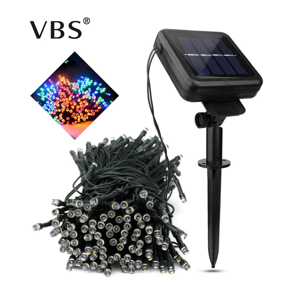 Us 8 49 35 Off Outdoor Solar Powered Led String Lights Waterproof 22m 12m 7m Fairy Lighting For Christmas Garden Lawn Yard Holiday Decoration In