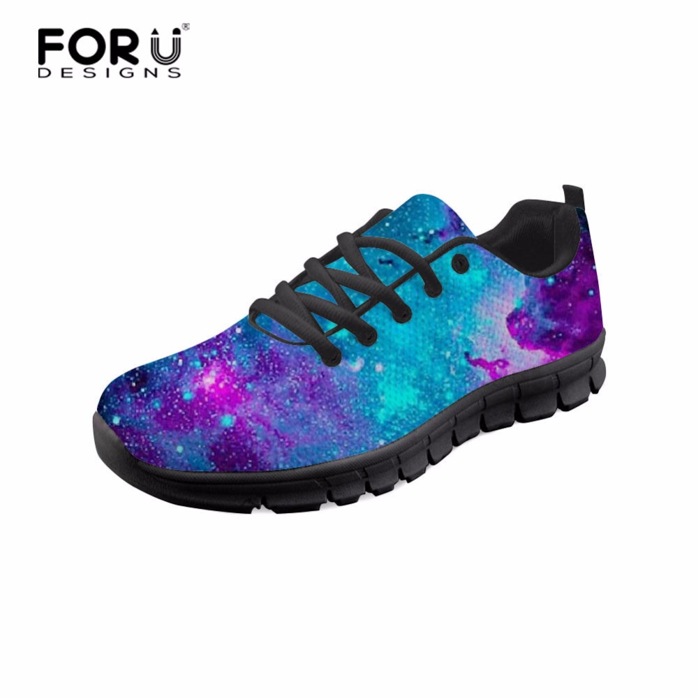 FORUDESIGNS Galaxy Star Fashion Brand Designer Women's Sneakers Spring Summer Women Flats Shoes Breathable Mesh Shoes Woman