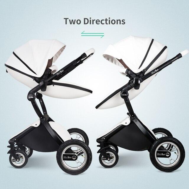 EU 2 in 1 Kinderwagen multifunctionele Luxe Kinderwagen Vouwen Ultra Licht Kan zitten kan worden liggen Kind Trolley 1