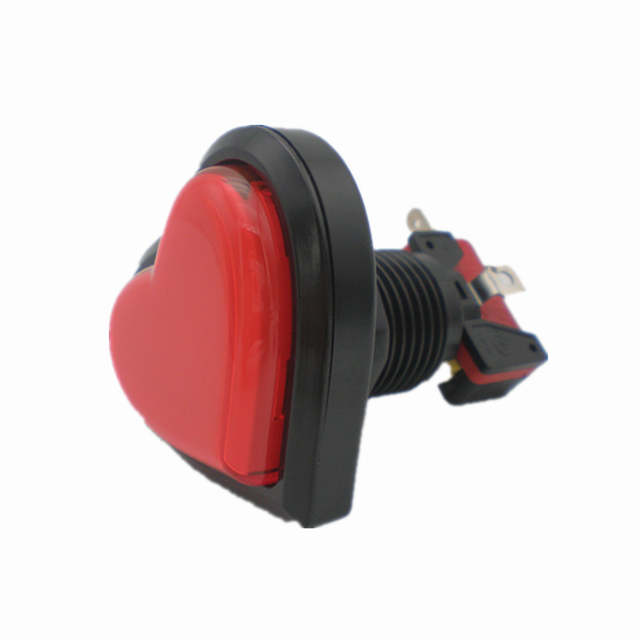 US $18 0 |10 Pcs Newest Heart Shaped LED Push Button With Microswitch and  Light For Arcade Game Machine-in Coin Operated Games from Sports &