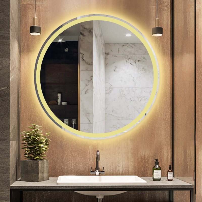 Wall Round Monted Led Illuminated Lighted Makeup Mirror Bathroom Smart Mirror 50 60 70 80cm Touch Switch For Mirrors Bluetooth Bath Mirrors Aliexpress