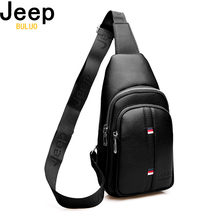 JEEP BULUO Large Capacity Man's Chest Bag Casual Crossbody Bags For Men High Quality Leather Sling Bag For Short Trip New(China)