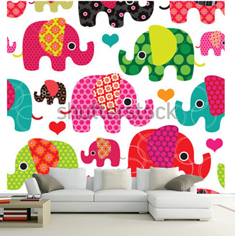 The custom 3D murals,lovely cartoon elephant kids pattern wallpaper background ,living room sofa TV wall bedroom wall paper 3d wood man football background 3d wallpaper murals living room bedroom study paper 3d wallpaper
