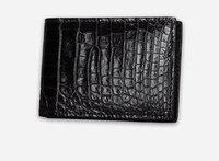 Crocodile leather men soft wallet card holder high quality