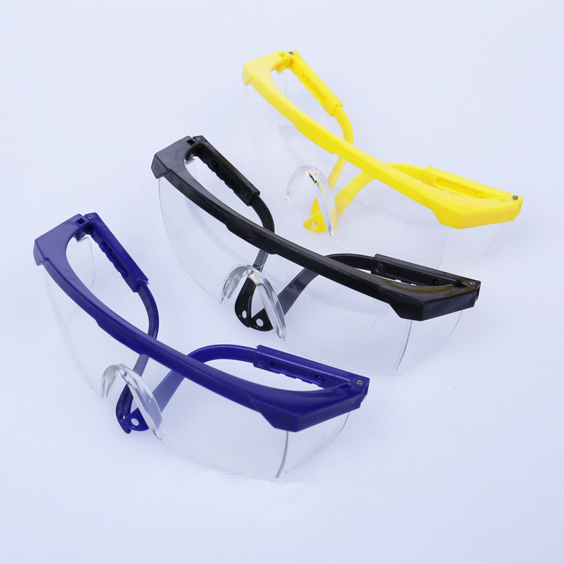 Safety Goggles Telescopic  Anti-dust Anti-impact Glasses Protective Labor Pc Glasses Wind Mirror Eyewear 3 Colors 12 Pairs/lot