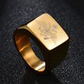 New Fashion Polished Stainless Steel Eagle Ring A Coat Of Land Force Of The Russian Signet Ring Band Men Biker ring