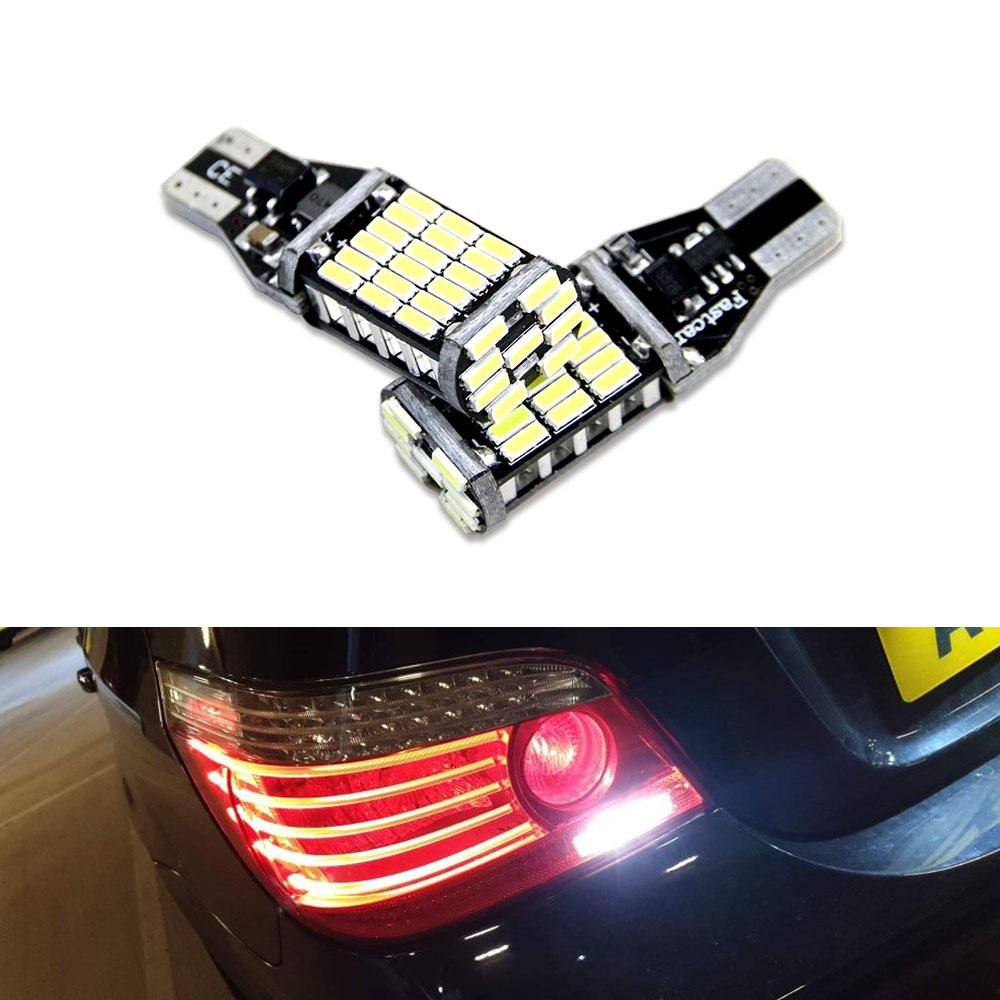 2x Canbus T15 W16W LED Bulbs Reverse Lights 4014SMD Car LED Back Up Rear Lamp For <font><b>BMW</b></font> <font><b>5</b></font> <font><b>Series</b></font> <font><b>E60</b></font> E61 F10 F11 F07 Mini Cooper image